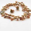 Set de Perle de Cultura si inchizatoare decorativa cu scoica Pawa