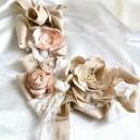Accesoriu floral brosa multipla tip Embellishment Make a Statement Bej