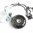 Ceas pe lanț Gun Negru L'Autre Siècle Stil Vintage