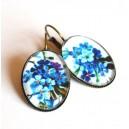 Cercei Flori Albastre