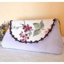 Poseta de Mana tip Plic Stil Romantic cu Imprimeu Floral Joli Jardin